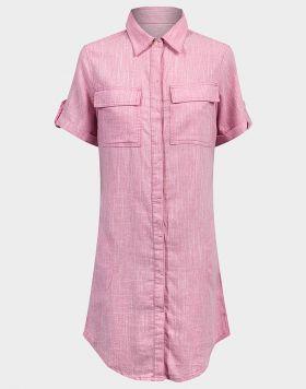 Ex UK Chainstore Ladies Linen Blend Shirt Dress - 10 pack