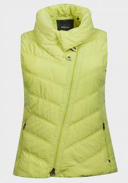 Bonita Ladies Plus Size Asymmetric Zip Padded Gilet - 5 pack