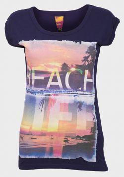 Ex UK Chainstore Ladies Beach Life Printed T-Shirt - 12 pack